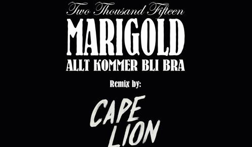 YMR Premiere: Marigold - Allt Kommer Bli Bra (Cape Lion Remix)